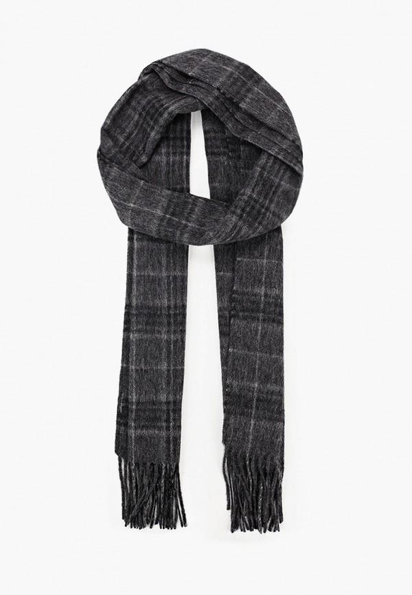 мужской шарф selected homme, серый