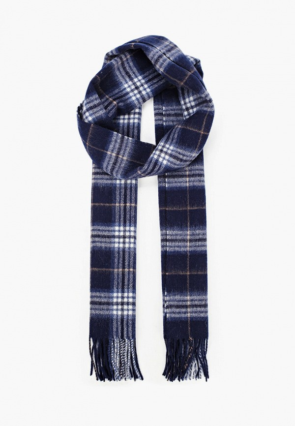 мужской шарф selected homme, синий
