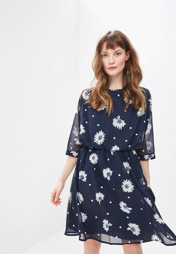 женское повседневные платье selected femme, синее