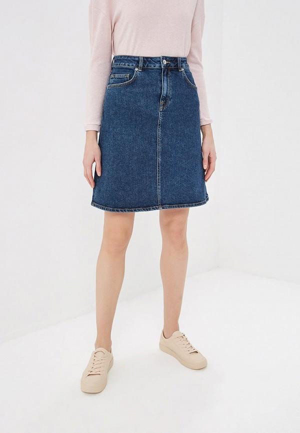 женская джинсовые юбка selected femme, синяя