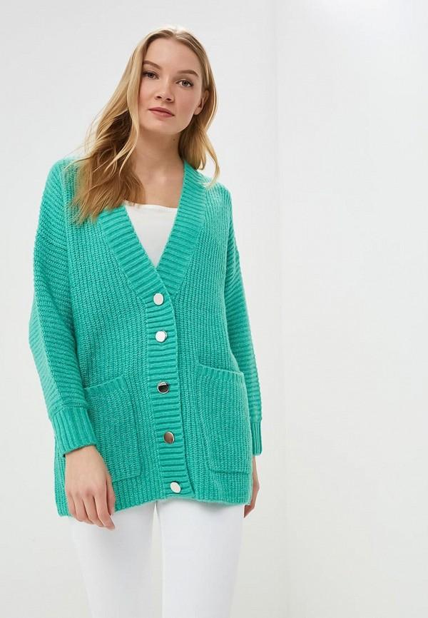 женский кардиган selected femme, зеленый