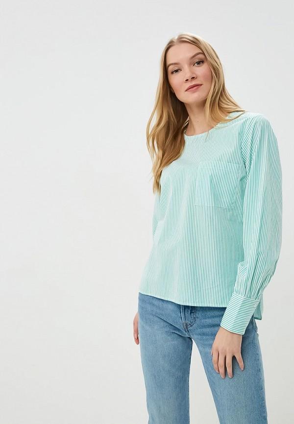 женская блузка selected femme, зеленая