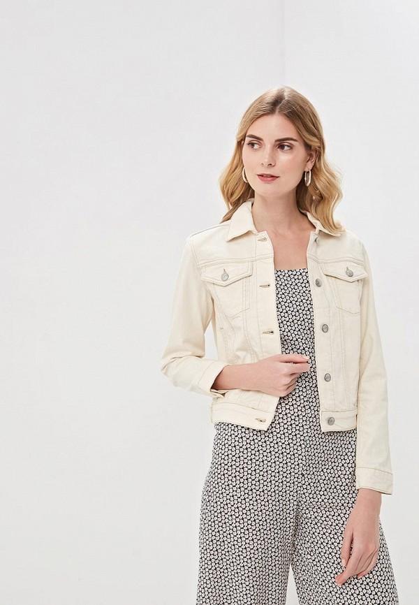 женская джинсовые куртка selected femme, бежевая