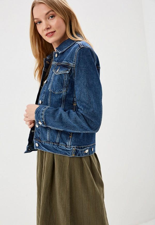 женская джинсовые куртка selected femme, синяя