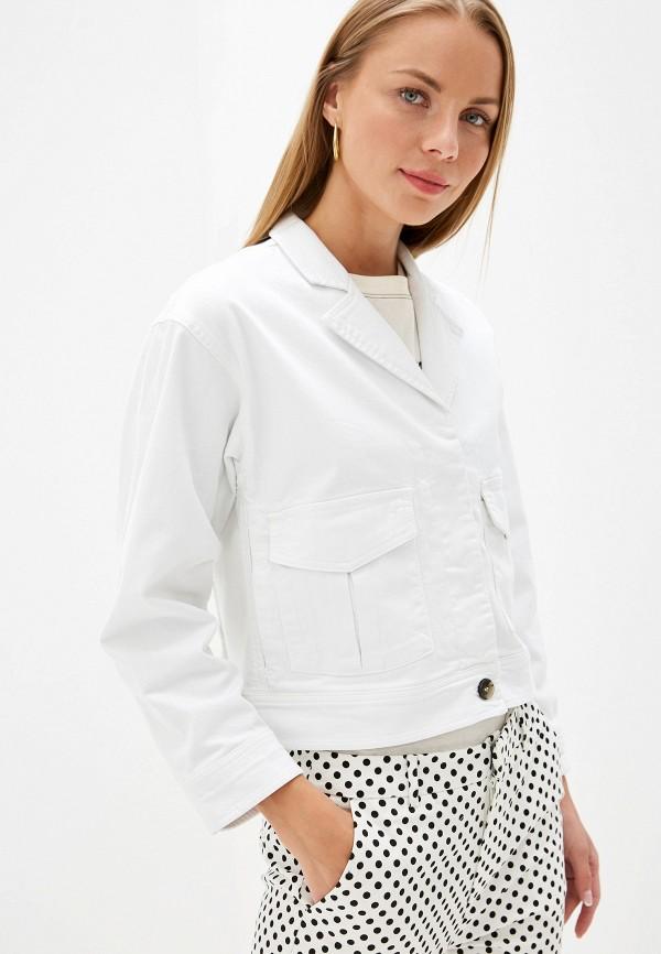 женская джинсовые куртка selected femme, белая