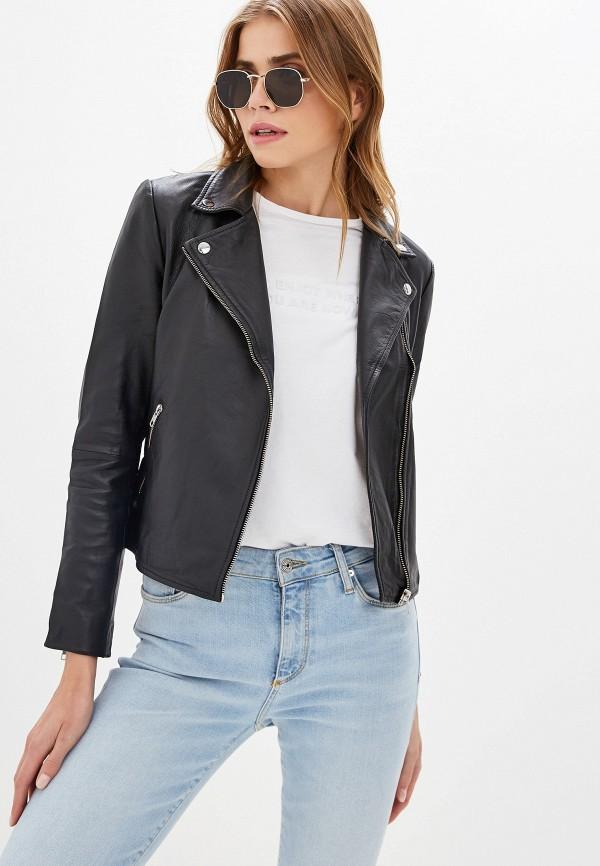 Куртка кожаная Selected Femme Selected Femme SE781EWFKUV5 цена