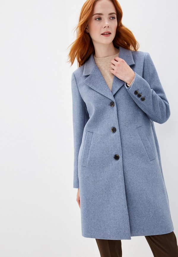 женское пальто selected femme, голубое