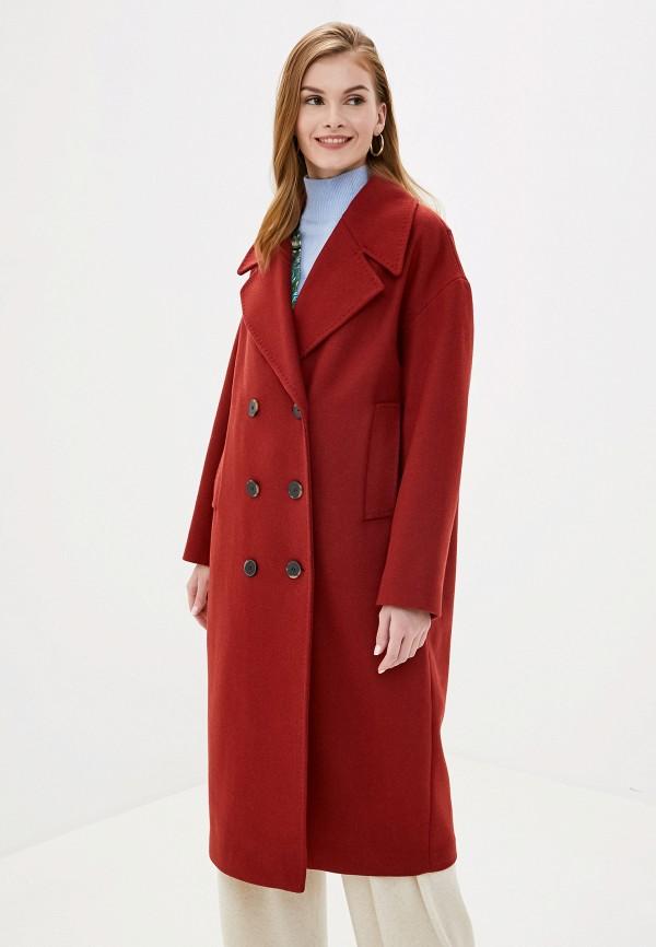 женское пальто selected femme, красное