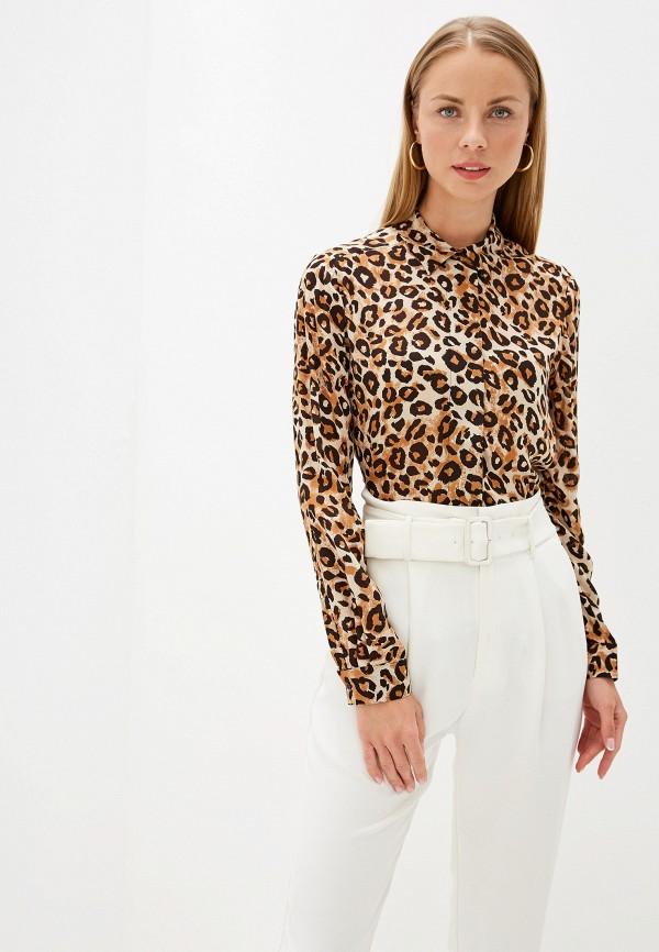 женская блузка selected femme, коричневая