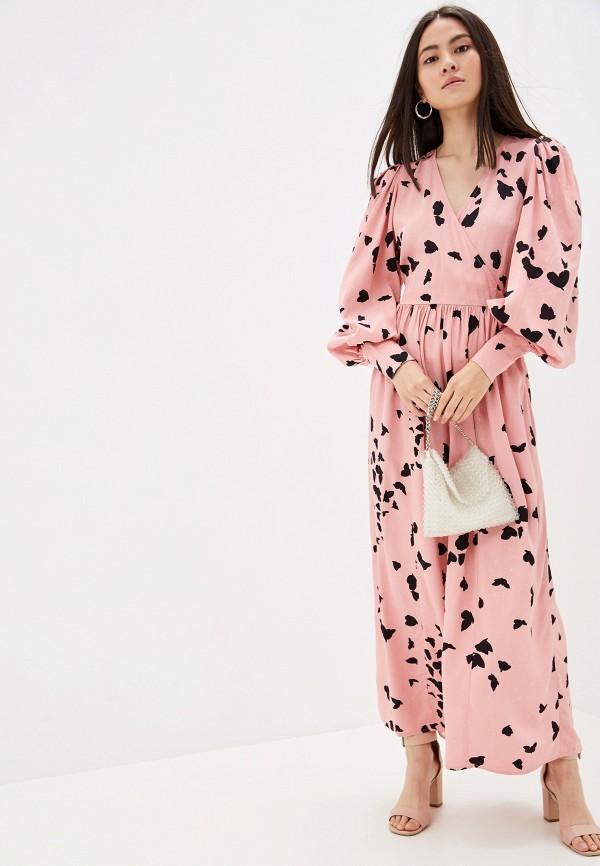женское повседневные платье selected femme, розовое