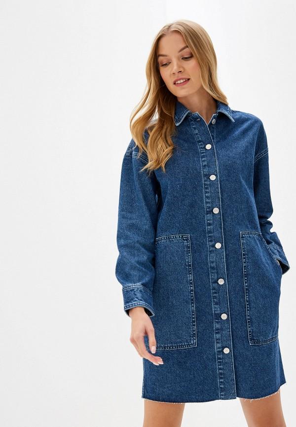 женская куртка selected femme, синяя