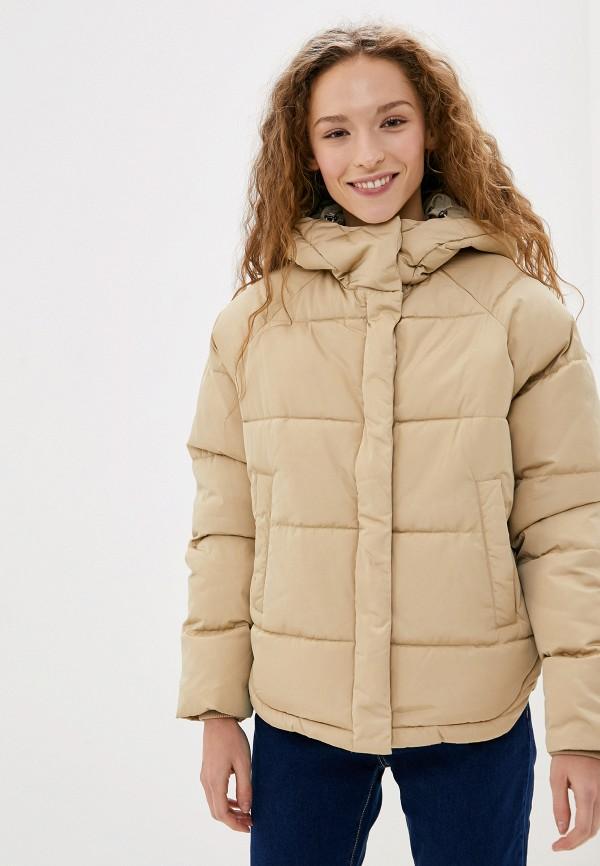 женская куртка selected femme, бежевая