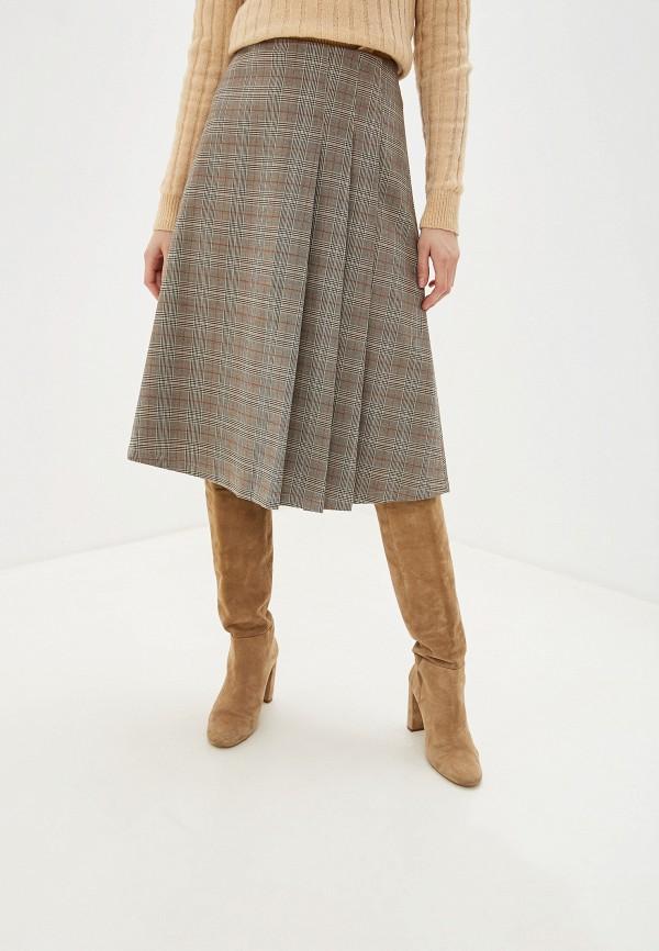 женская юбка selected femme, бежевая