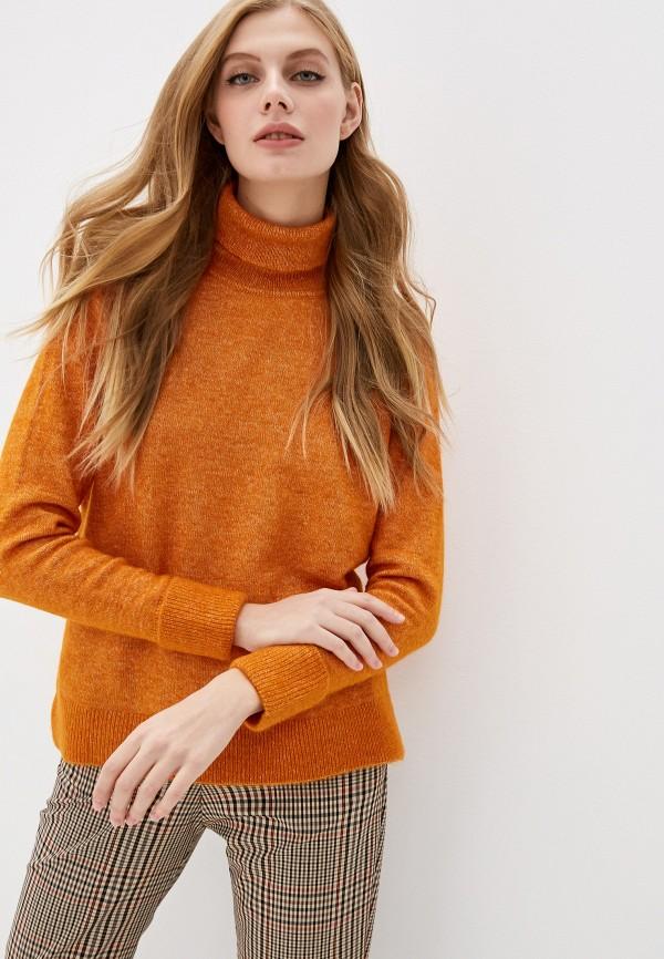 женская водолазка selected femme, оранжевая