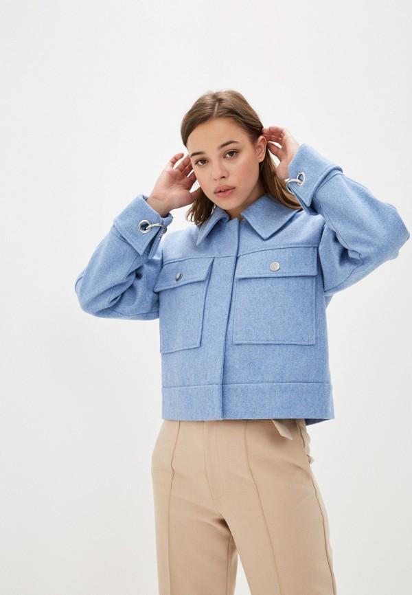 женская куртка selected femme, голубая