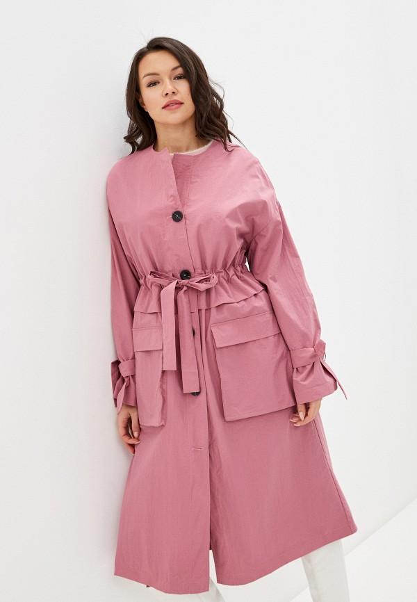 женский плащ selected femme, розовый