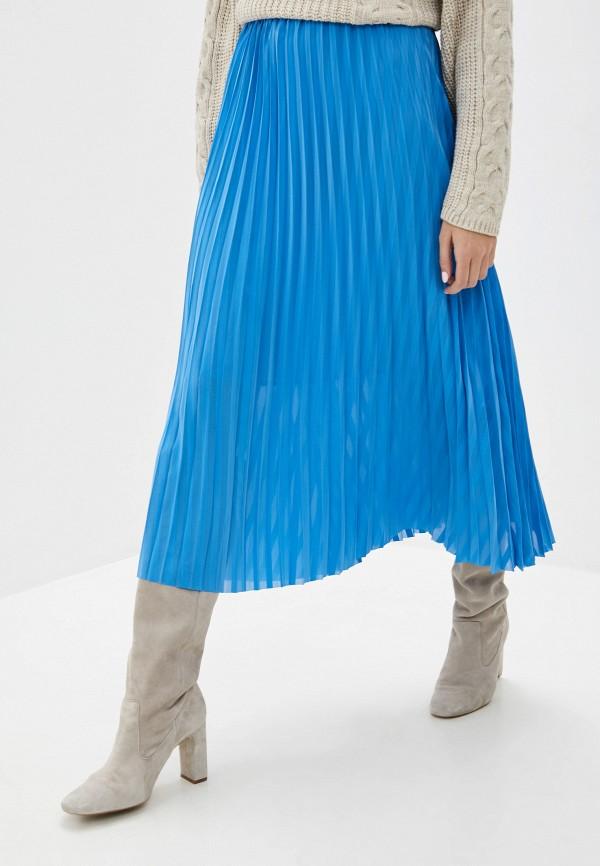 женская юбка selected femme, голубая