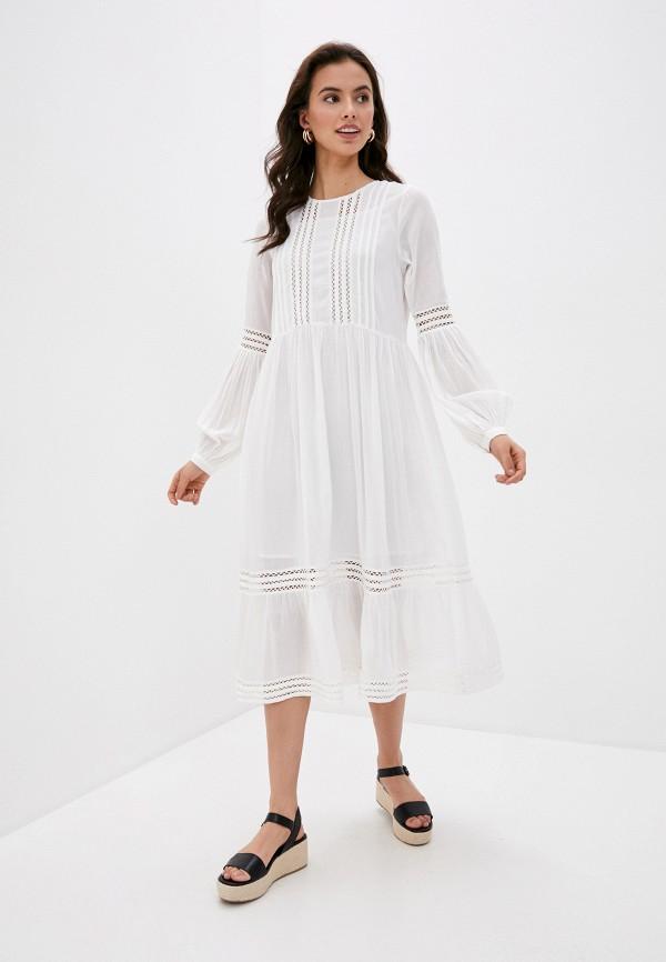 женское повседневные платье selected femme, белое