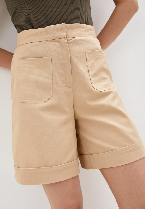 женские повседневные шорты selected femme, бежевые