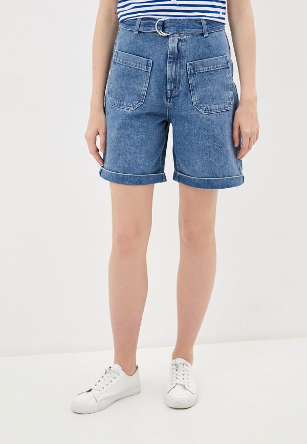 женские джинсовые шорты selected femme, голубые