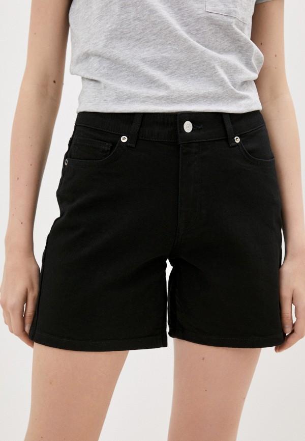женские джинсовые шорты selected femme, черные