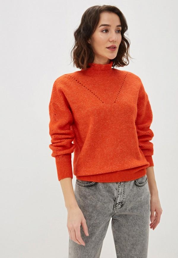 женский свитер selected femme, оранжевый