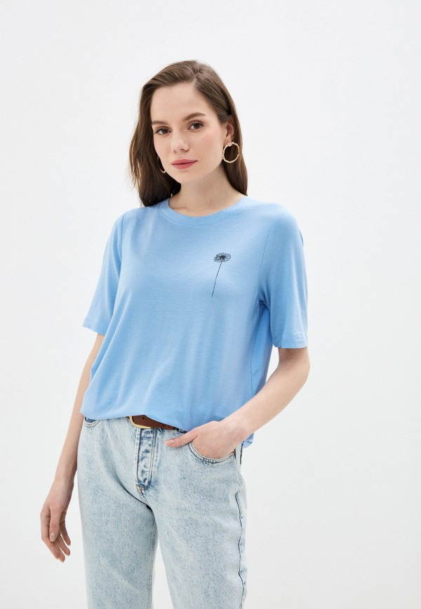 женская футболка selected femme, голубая