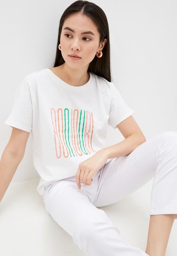 женская футболка selected femme, белая