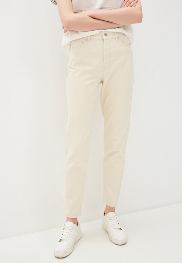 женские прямые джинсы selected femme, бежевые