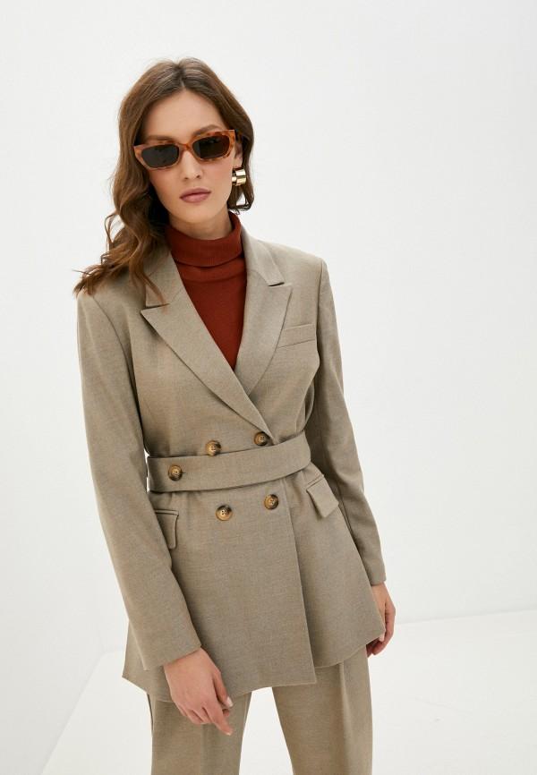женский пиджак selected femme, бежевый