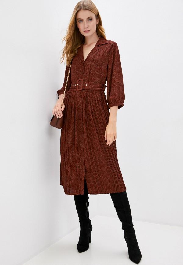женское повседневные платье selected femme, коричневое