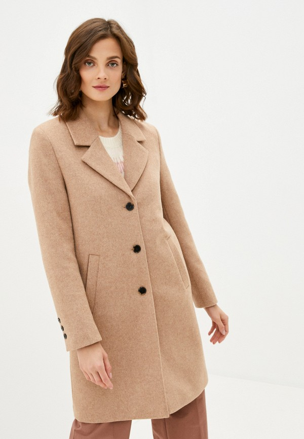 женское пальто selected femme, коричневое