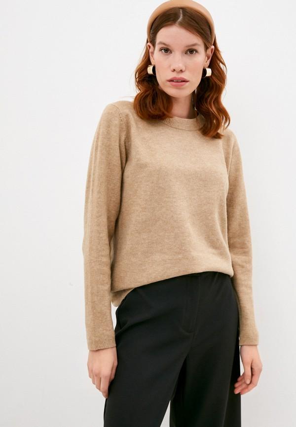 женский джемпер selected femme, коричневый