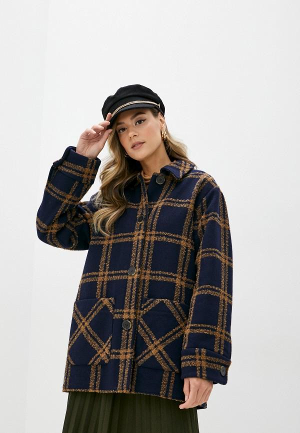 женское пальто selected femme, синее