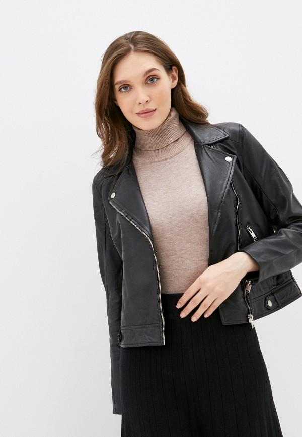 женская куртка selected femme, черная