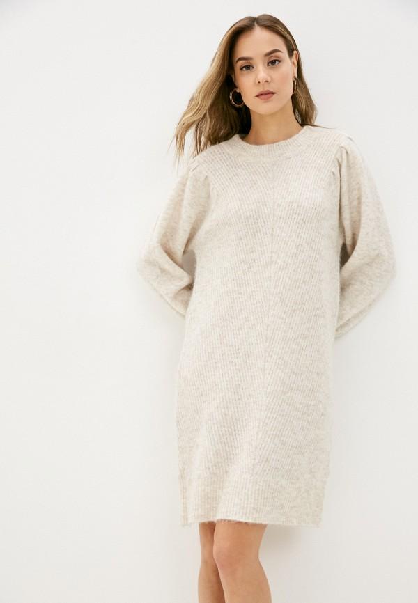 женское платье selected femme, бежевое