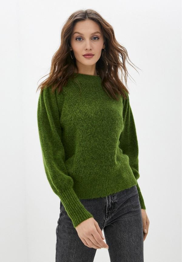 женский джемпер selected femme, зеленый