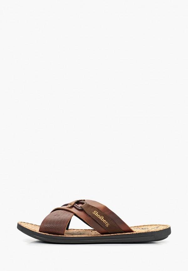 мужское сабо shoiberg, коричневое