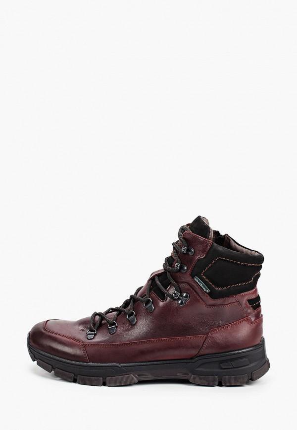 мужские высокие ботинки shoiberg, бордовые
