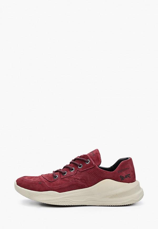 мужские низкие кроссовки shoiberg, бордовые