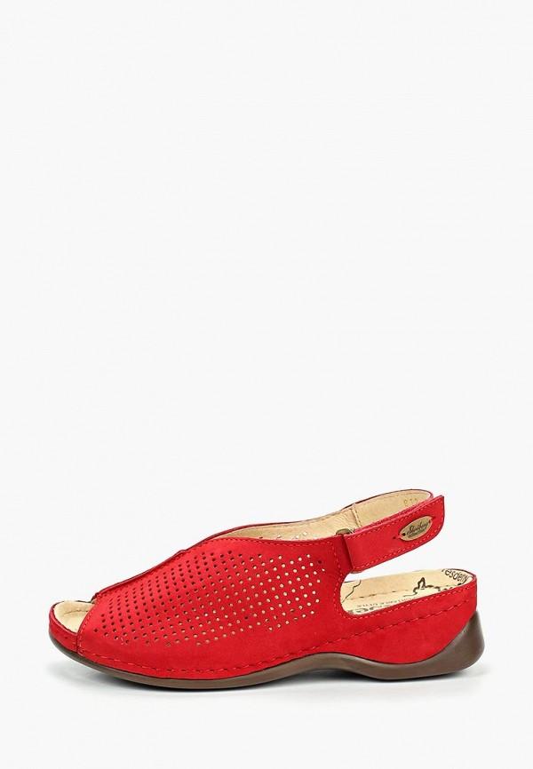 женские босоножки shoiberg, красные