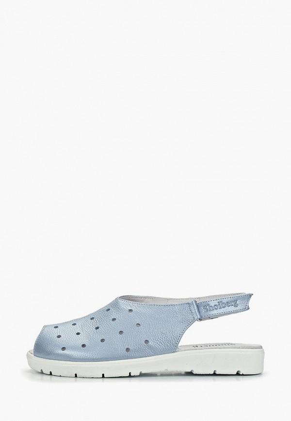 женские сандалии shoiberg, голубые