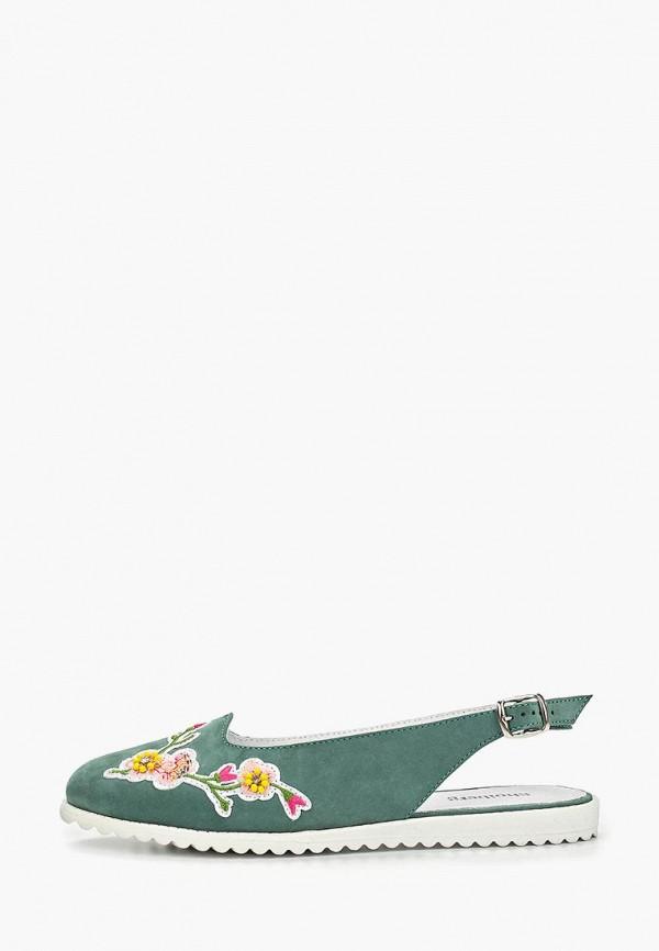 женские босоножки shoiberg, зеленые