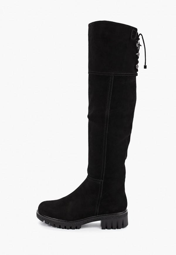 женские ботфорты shoiberg, черные