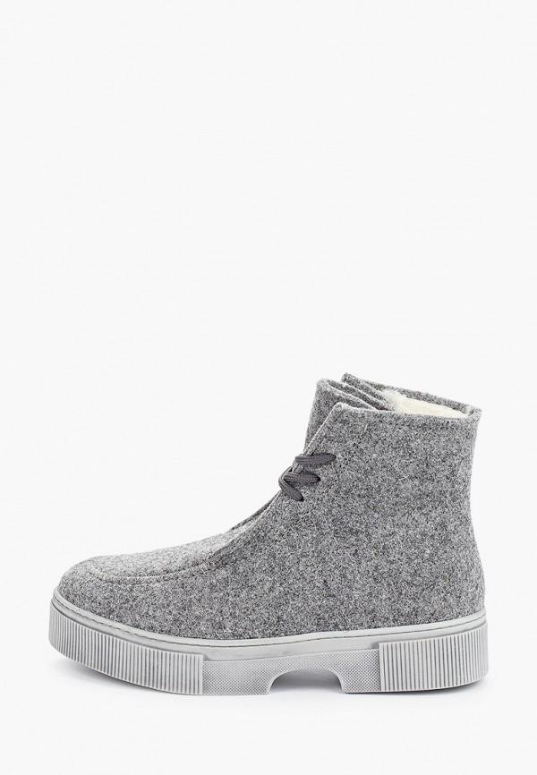 женские ботинки shoiberg, серые