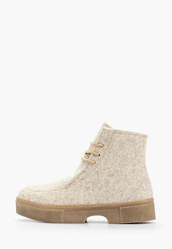 женские ботинки shoiberg, бежевые