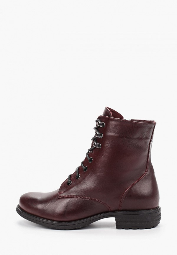 женские ботинки shoiberg, бордовые