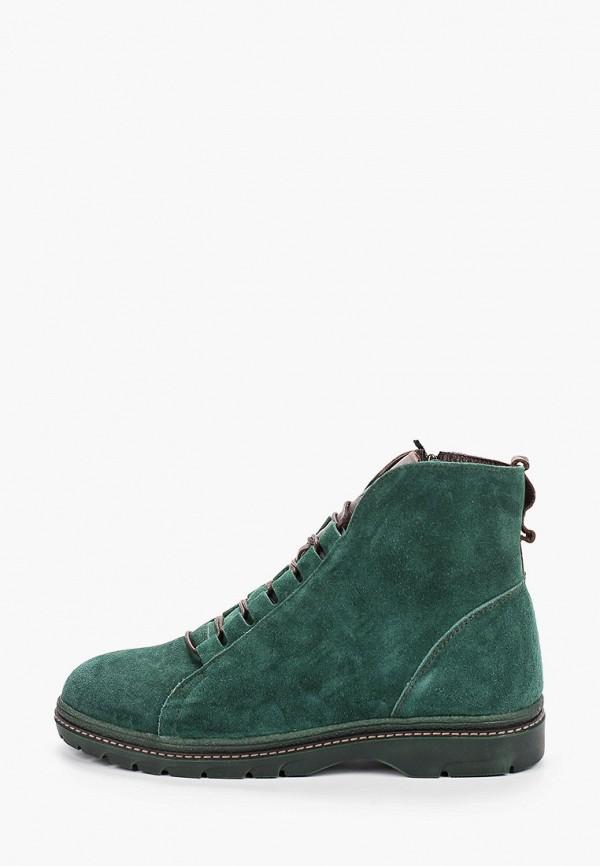 женские ботинки shoiberg, зеленые