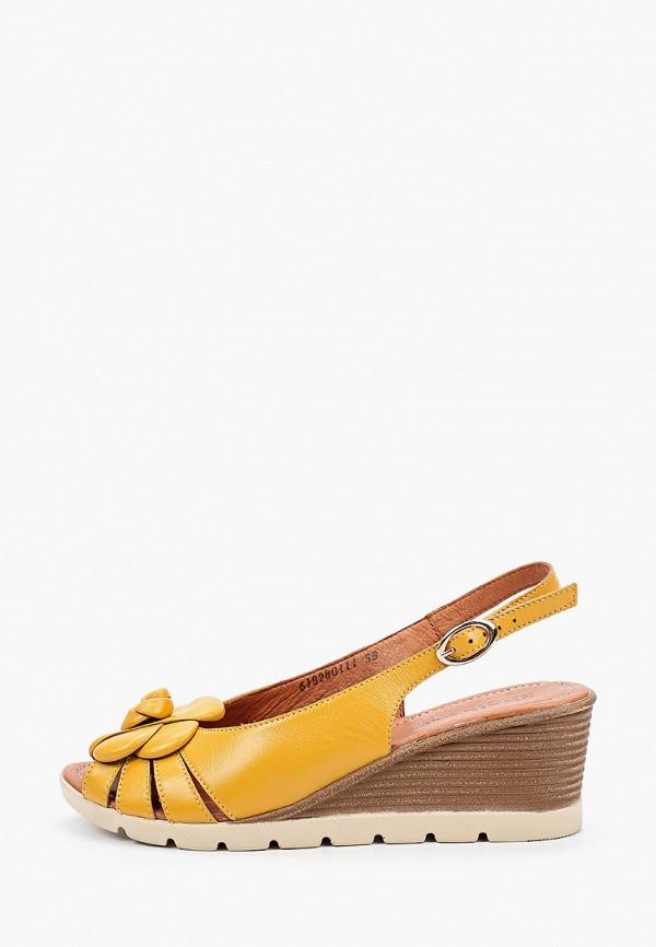 женские босоножки shoiberg, желтые