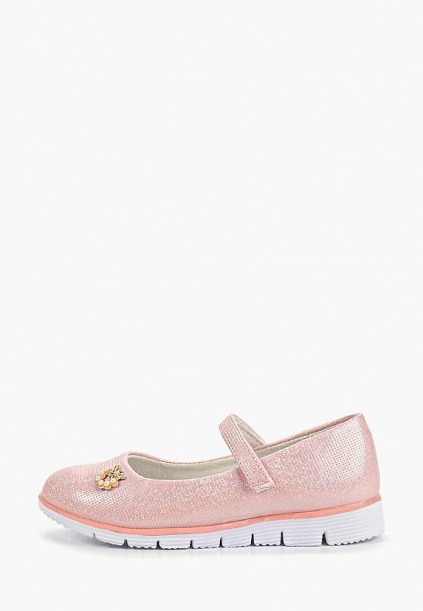 туфли shuzzi для девочки, розовые